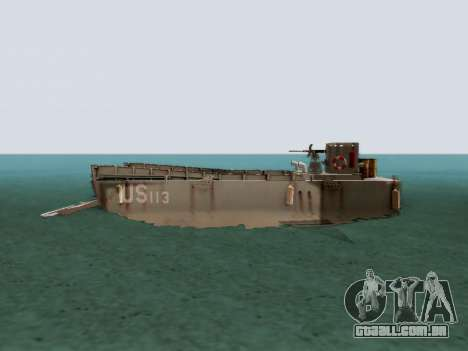 Landing Craft para GTA San Andreas esquerda vista