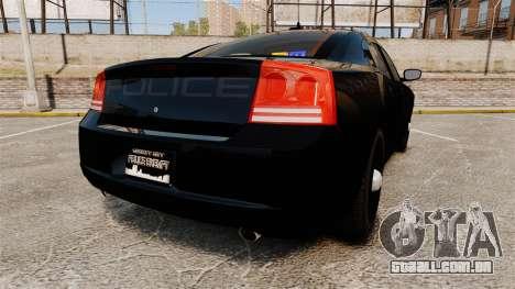 Dodge Charger Slicktop Police [ELS] para GTA 4 traseira esquerda vista