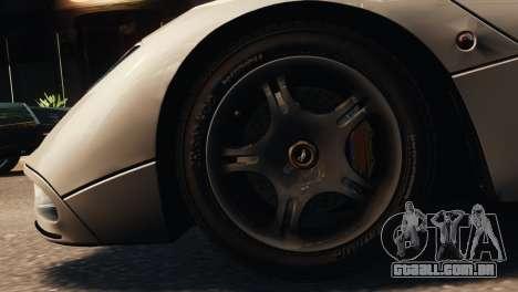 McLaren F1 XP5 para GTA 4 traseira esquerda vista