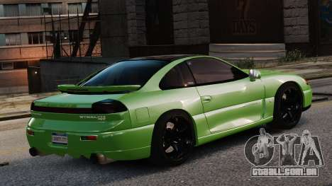 Dodge Stealth Turbo RT 1996 para GTA 4 vista de volta