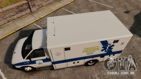 Brute Speedo TEMS Ambulance [ELS] para GTA 4 vista direita