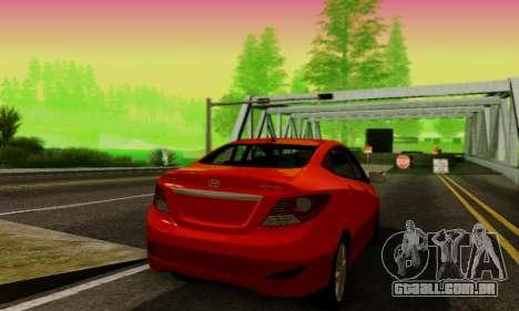 Hyndai Solaris para GTA San Andreas vista direita