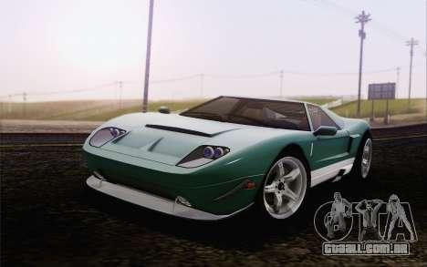 Insípido Bullet GT из GTA 5 para GTA San Andreas traseira esquerda vista