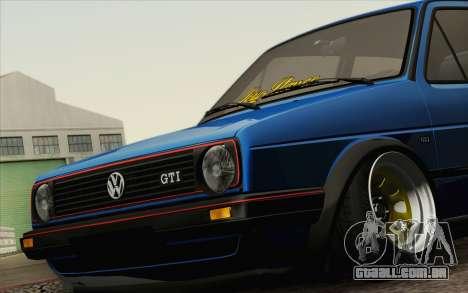 Volkswagen Golf MK2 LowStance para GTA San Andreas vista direita
