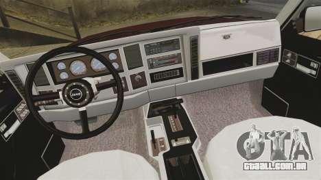 Jeep Carver 6X6 para GTA 4 vista interior