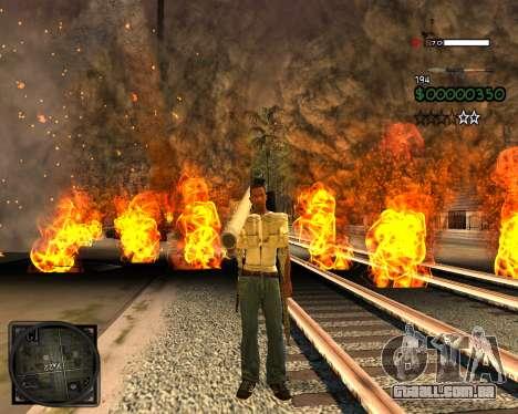 C-HUD Lite v2.0 para GTA San Andreas segunda tela