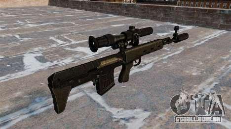 SVD sniper rifle reduzido para GTA 4 segundo screenshot