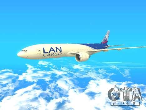 Boeing 777 LAN Cargo para GTA San Andreas esquerda vista