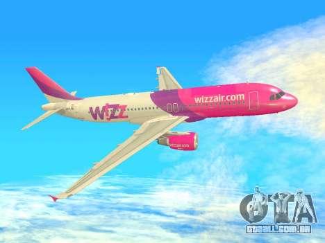 Airbus A320-200 WizzAir para GTA San Andreas vista inferior