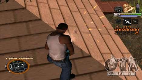 C-HUD TV-Centro para GTA San Andreas por diante tela