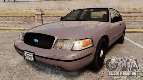 Ford Crown Victoria 2008 LCPD Detective [ELS] para GTA 4