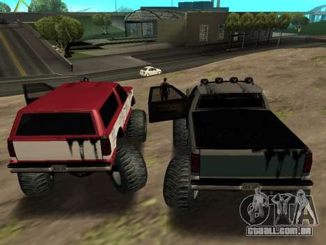 Street Monster para GTA San Andreas vista traseira