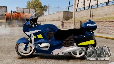 BMW R1150RT Gendarmerie [ELS] para GTA 4 esquerda vista