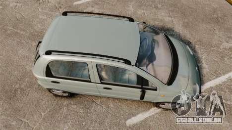 Daewoo Matiz SE 1998 para GTA 4 vista direita