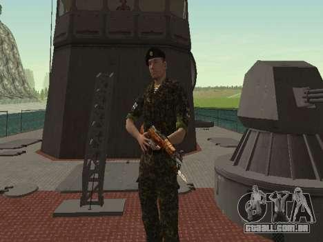 O Corpo de fuzileiros navais das forças armadas  para GTA San Andreas sétima tela