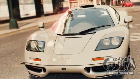 McLaren F1 XP5 para GTA 4 vista direita
