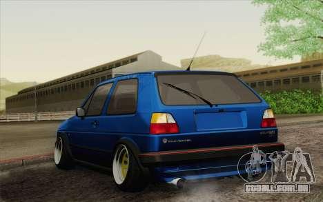 Volkswagen Golf MK2 LowStance para GTA San Andreas esquerda vista