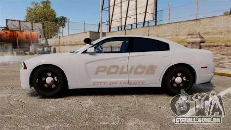 Dodge Charger 2011 LCPD [ELS] para GTA 4 esquerda vista