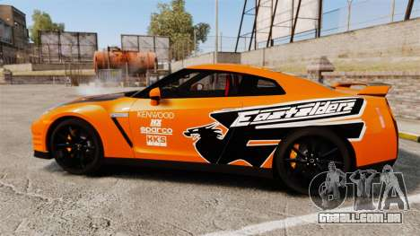 Nissan GT-R 2012 Black Edition NFS Underground para GTA 4 esquerda vista