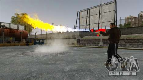O lança-chamas MX-295 para GTA 4 por diante tela