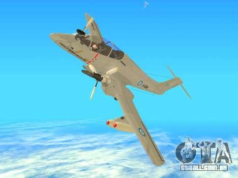 FMA IA-58 Pucara para GTA San Andreas vista direita