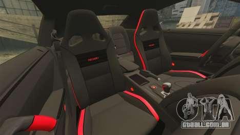 Nissan GT-R 2012 Black Edition NFS Underground para GTA 4 vista lateral