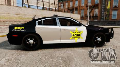 Dodge Charger 2013 LCSO [ELS] para GTA 4 esquerda vista