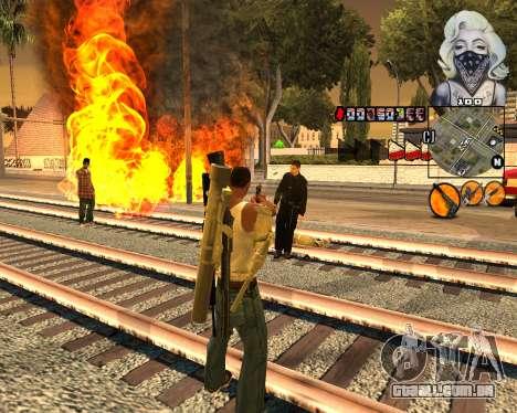 C-HUD Marilyn Monroe para GTA San Andreas terceira tela
