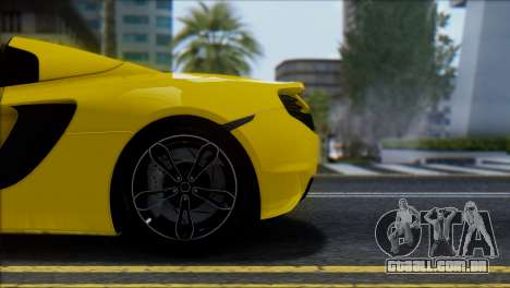McLaren MP4-12C Spider para vista lateral GTA San Andreas