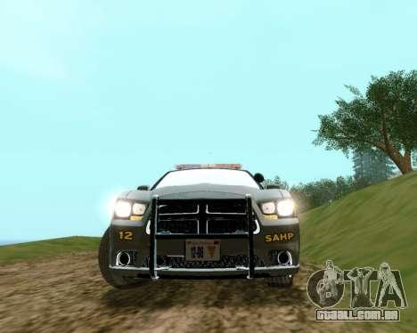 Dodge Charger 2012 SAHP para GTA San Andreas traseira esquerda vista