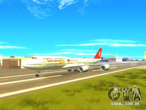 Boeing 747 Air China para GTA San Andreas vista inferior