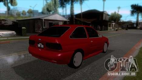 Ford Escort 1996 para GTA San Andreas vista direita