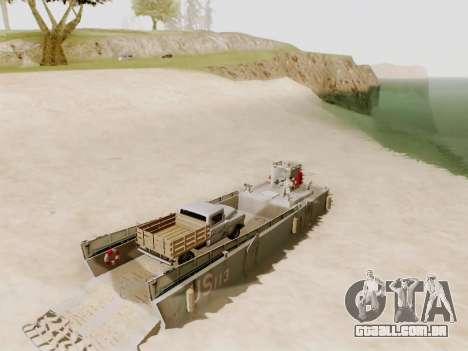 Landing Craft para GTA San Andreas vista superior