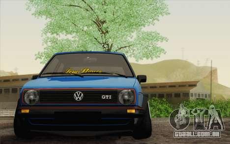Volkswagen Golf MK2 LowStance para GTA San Andreas traseira esquerda vista