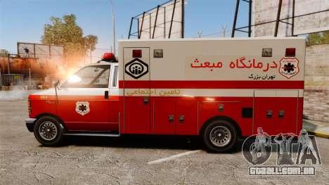 Iraniano pintura ambulância para GTA 4 esquerda vista