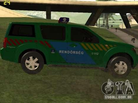 Nissan Pathfinder Police para GTA San Andreas vista direita