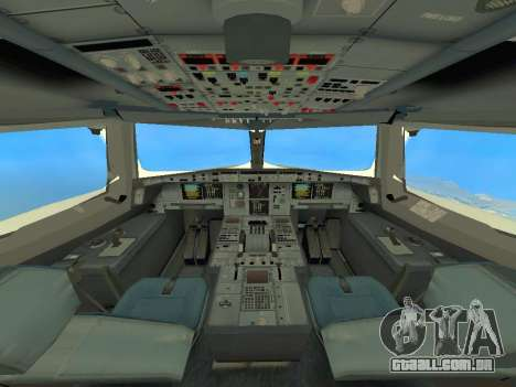 A380-800 Hainan Airlines para GTA San Andreas vista interior