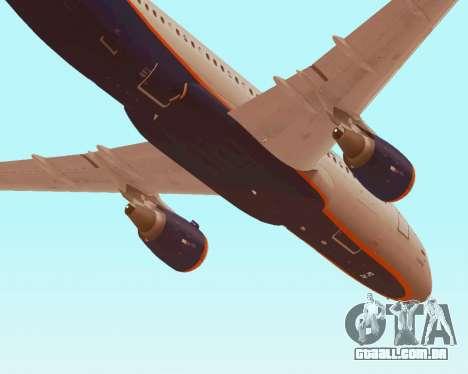 A Airbus A320-200 Tam Linhas Aereas para GTA San Andreas interior
