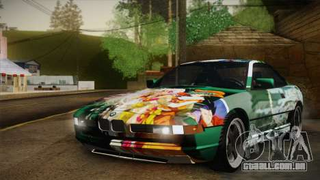 BMW M8 Custom para GTA San Andreas vista superior