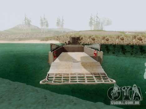 Landing Craft para GTA San Andreas traseira esquerda vista