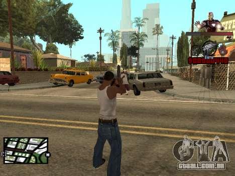 C-HUD homem de Ferro para GTA San Andreas terceira tela