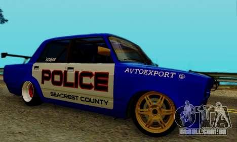 VAZ 2107 Drift para GTA San Andreas vista direita