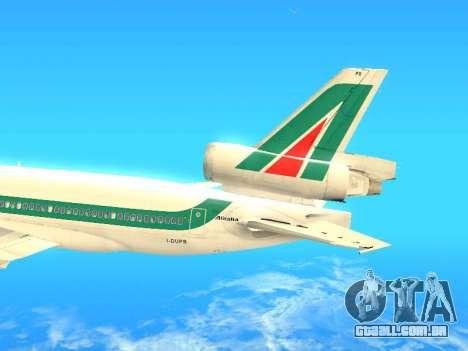 McDonnell Douglas MD-11 Alitalia para GTA San Andreas vista interior
