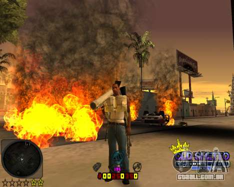C-HUD Old Ghetto para GTA San Andreas terceira tela