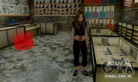 Carlita para GTA San Andreas por diante tela