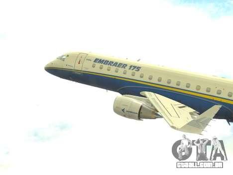 Embraer 175 HOUSE para GTA San Andreas esquerda vista