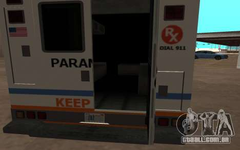 GTA 5 Ambulance para GTA San Andreas esquerda vista