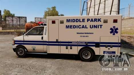 Brute MPMU Ambulance para GTA 4 esquerda vista