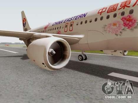Airbus A320-211 China Eastern para GTA San Andreas vista traseira