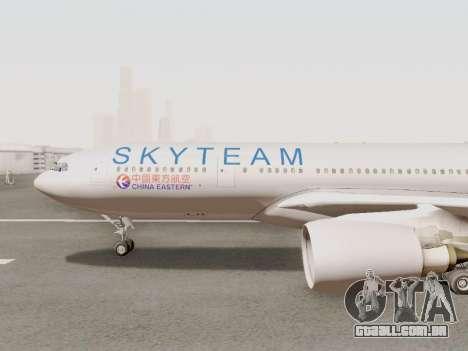 A330-202 China Eastern para GTA San Andreas traseira esquerda vista